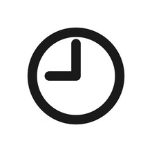 Clock Icon In Trendy Flat Style Isolated On Background. Clock Icon Page Symbol For Your Web Site Design Clock Icon Logo, App, UI. Clock Icon Illustration