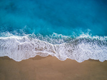 Drone View Of Kathisma Beach