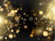 Abstract defocused bright golden luxury glitter bokeh lights background. EPS 10