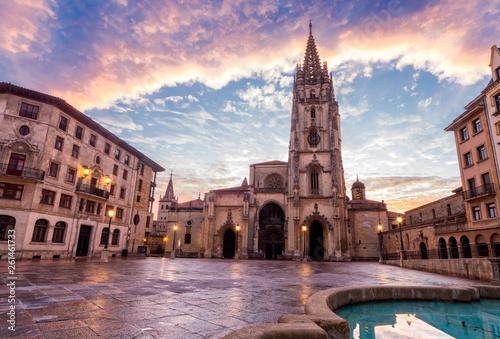 Catedral en Oviedo, Asturias Slika na platnu