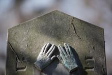 Priest's Hands Zentralfriedhof  Central Cemetery Jewish Section Winter Vienna