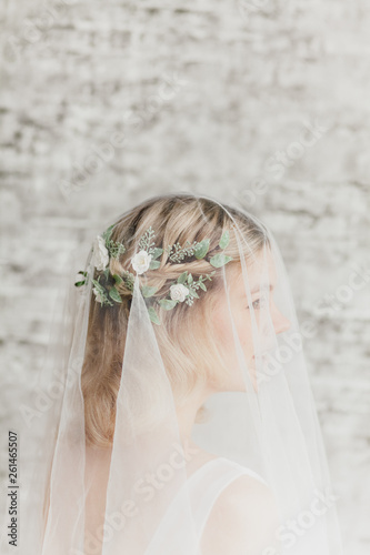 Foto op Canvas Bar bride with veil