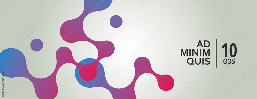 Fototapety, obrazy: Abstract background with connecting dots and lines. Technology graphic design and network connection concept
