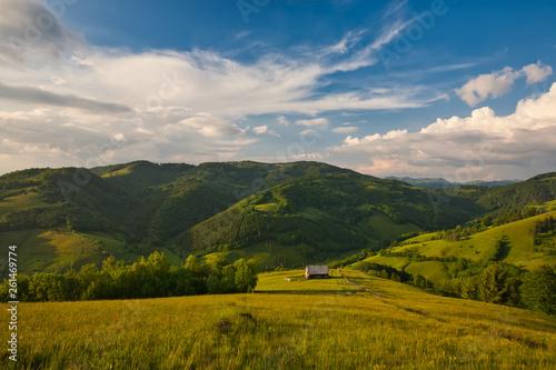 Fototapeta Mountain spring valley obraz na płótnie