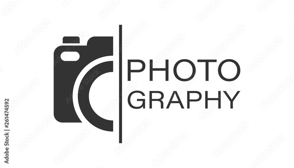 Fototapety, obrazy: Camera device sign icon in flat style. Photography vector illustration on white isolated background. Cam equipment business concept.