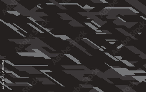 Stampa su Tela Camouflage black, dark gray and cray colours seamless pattern