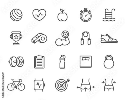 Photo  Set of Sport Line Icons