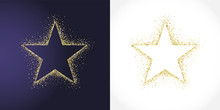 Stars Shape Logotype Set. Isolated Business Abstract Emblem 1 2 3 Place Symbols. Banner Decoration, Dust Graphic Template. Celebrating Decorative Congratulating Shiny Sign, Metallic Tag Label Design.