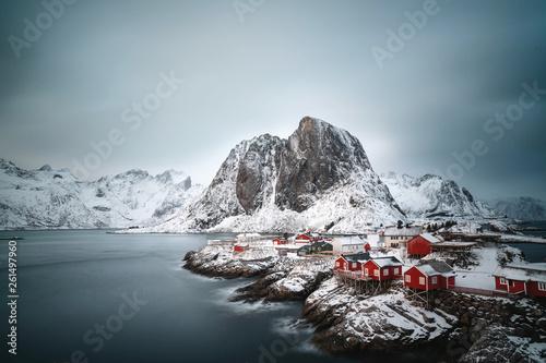 Foto auf Gartenposter Antarktika Winter in Skandinavien