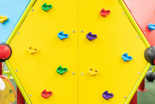 Climbing Wall On The Playground