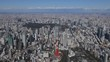 Japan Tokyo skyline, from a height (view from the helicopter)