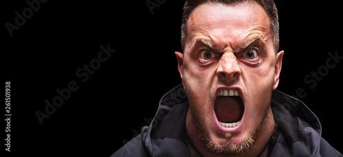 Canvastavla Angry man