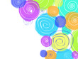 Colorful Hand Drawn Circles Soft Background