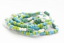 Glass Beads Jewelry Set On Whi...