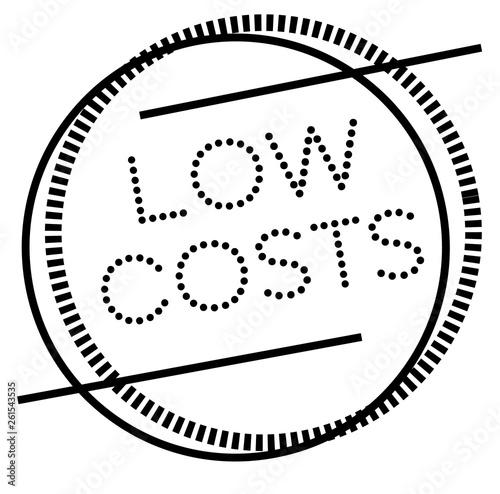 Fotografia, Obraz  LOW COSTS stamp on white