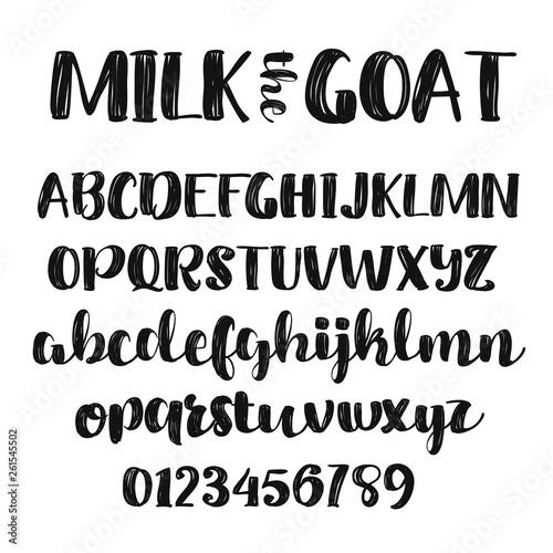 Foto Thick Brush Script Alphabet Font