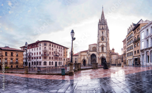 Catedral de Oviedo Tablou Canvas