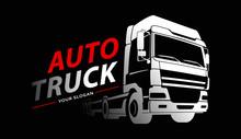 Truck Logo Transportation. Abstract Lines. Vector Illustration