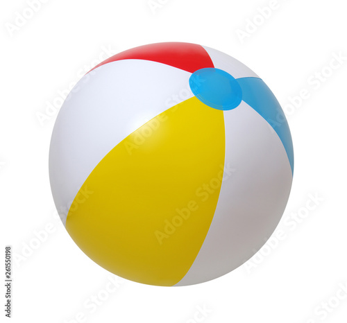 Murais de parede Beach ball on white