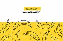 Bananas Background. Isolated O...