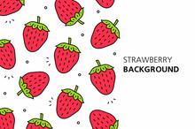 Strawberry Background. Isolated On White Background
