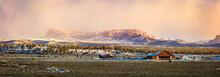 Foggy Sunrise Panorama Near Br...