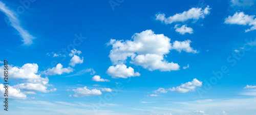 Canvas Print blue sky with clouds . nature background
