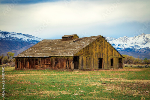 Fotografie, Obraz  Old barn along the Eastern Sierra, California, USA.