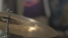 Wet Cymbal Hit In Slow Motion