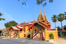 Wat Si Chum Temple, Beautiful Monastery Decorated In Myanmar And Lanna Style At Lampang, Thailand
