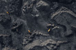 canvas print picture - Open pit mine, extractive industry for coal, top view aerial drone