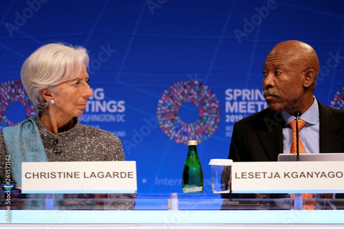 IMF Managing Director Christine Lagarde and IMFC Chair and
