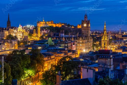 Edinburgh sunset Canvas-taulu