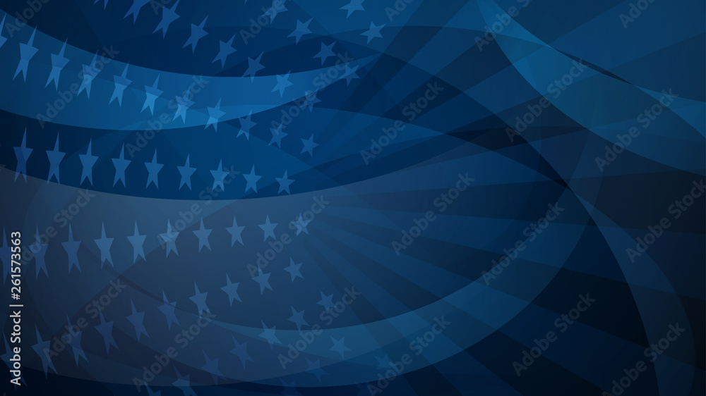 Fototapety, obrazy: Independence day abstract background with elements of the american flag in red and blue colors