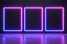 Glowing Neon Frames