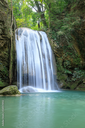 Wall Murals Waterfalls Erawan Waterfall tier 3, in National Park at Kanchanaburi, Thailand