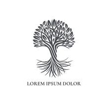 Black Tree Logo. Abstract And ...