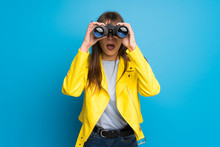 Young Woman With Yellow Jacket...