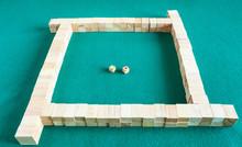 Beginning Of Play In Mahjong Board Game