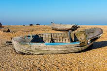 Old, Abandoned Fishing Boat At...