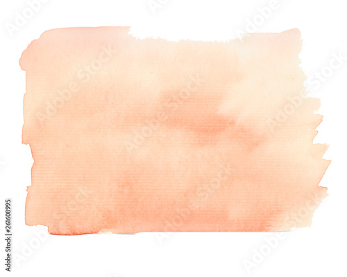 Fényképezés Watercolor abstract background in brown and orange colors