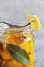 Salted Canned Lemons. Preserved Lemons With Salt. Moroccan Cuisine. Ferment