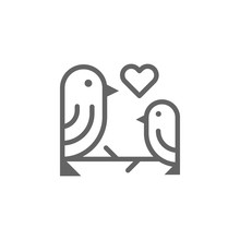 Mothers Day Birds Outline Icon...