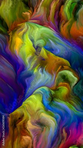 Fototapeta Inner Life of Thick Paint obraz na płótnie