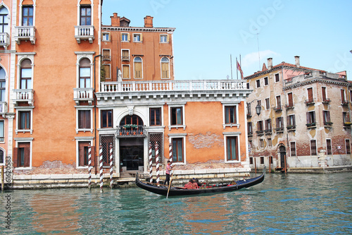 Fototapety, obrazy: Venice Venezia Italy 2019 march city view from ship. Renaissance Buildings in sea