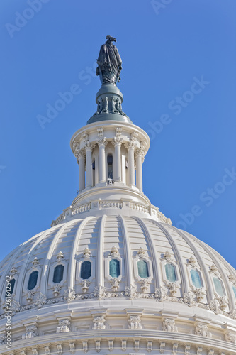 Canvas Print United States Capitol building dome in Washington DC