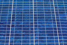 Close Up Of An Array Of Photo Voltaic Solar Panels
