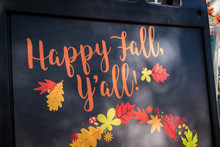 Southern Black Happy Fall Sign
