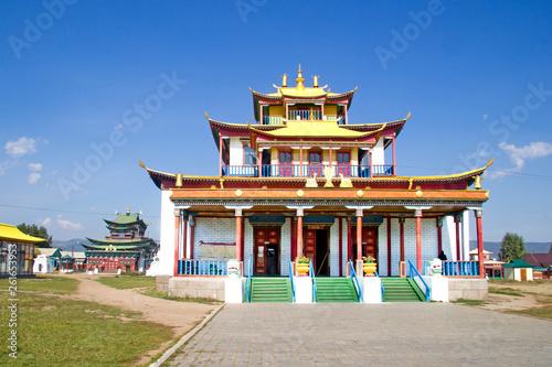 Fotografia  Buddhist temple in the Ivolginsky datsan near Ulan-Ude