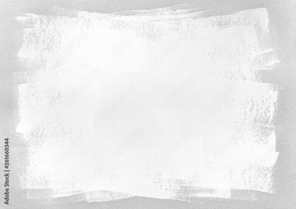 Fototapety, obrazy: hand painted blank frame on grey paper background